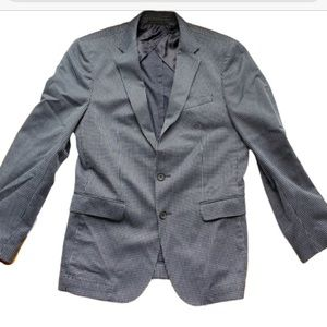 Hugo Boss Micropattern Checkered Stretch Blazer